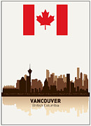 North Vancouver Digital Art Posters - Vancouver British Columbia Canada Poster by Daniel Hagerman