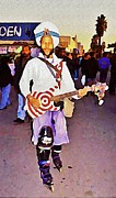 Guitar Player Digital Art - Venice Beach Busking Icon by John Malone