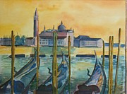 Maggiore Paintings - Venice Gondolas by Geeta Biswas