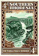 Stamps Posters - Victoria Falls Bridge - 4d Crop Poster by Outpost Imagery