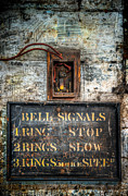 Museum Digital Art Prints - Victorian Bell Sign Print by Adrian Evans