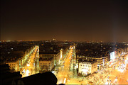 Champs Prints - View from Arc de Triomphe - Paris France - 011315 Print by DC Photographer