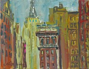 Empire State Building Paintings - View of Empire State 2 by Edward Ching