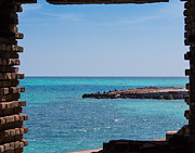 Dry Tortugas Prints - View Through the Walls of Fort Jefferson Print by John Bailey