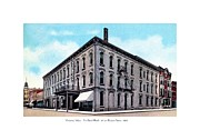 Vincennes Framed Prints - Vincennes Indiana - The Grand Hotel- 3rd and Busseron Streets - 1910 Framed Print by John Madison