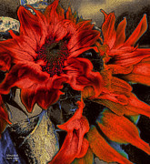 Reds Orange And Blue Metal Prints - Vincent Metal Print by Jayne Logan Intveld