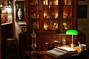 Drugstore Photos - Vintage Apothecary Shop by Olivier Le Queinec