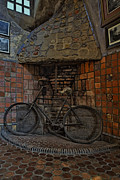 Byzantine Photo Metal Prints - Vintage Bicycle Metal Print by Susan Candelario