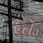 Vintage Coca Cola Sign Art - Vintage Coca Cola Sign 4b by Andrew Fare