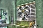 Illustrator Metal Prints - Vintage Fan Metal Print by Dan Stone