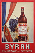 Bottle Photos - Vintage French Poster Byrrh by Olivier Le Queinec
