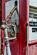 Fill Posters - Vintage Gas Pump Poster by Paul Ward