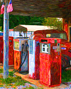 Wingsdomain Art and Photography - Vintage Gas Station v1