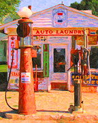 Wingsdomain Art and Photography - Vintage Gas Station v3