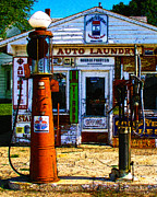 Wingsdomain Art and Photography - Vintage Gas Station v3a