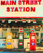 Wingsdomain Art and Photography - Vintage Gas Station v4