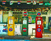 Wingsdomain Art and Photography - Vintage Gas Station v4a