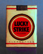 Wingsdomain Art and Photography - Vintage Lucky Strike Cigarette -...