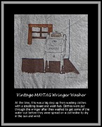 Washing Machine Posters - Vintage MAYTAG Wringer Washer Poster by Barbara Griffin
