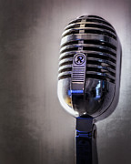 Logo Acrylic Prints - Vintage Microphone 2 Acrylic Print by Scott Norris
