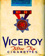 Wingsdomain Art and Photography - Vintage Viceroy Cigarette - Painterly -...