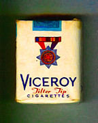 Wingsdomain Art and Photography - Vintage Viceroy Cigarette - Painterly