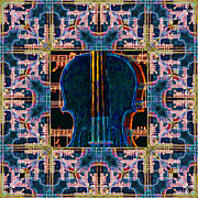 Wingsdomain Art and Photography - Violin Abstract Window - 20130128v1