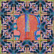 Wingsdomain Art and Photography - Violin Abstract Window - 20130128v1b