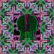 Wingsdomain Art and Photography - Violin Abstract Window - 20130128v2