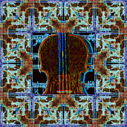 Wingsdomain Art and Photography - Violin Abstract Window - 20130128v3