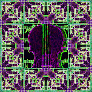 Wingsdomain Art and Photography - Violin Abstract Window - 20130128v4