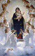 All - Virgin Mary With Angels by Bouguereau