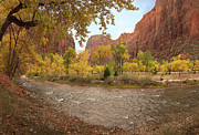 Colorful Leaves Photos - Virgin River Canyon in Autumn by Leland Howard