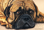Dog Art Prints Prints - Waiting Print by Michelle Wrighton
