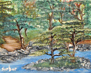 Rocks Paintings - Walk n Faith by Suzanne Surber