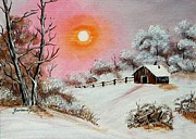 Barbara Griffin - Warm Winter Day after Bob Ross