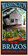Independence Hall Digital Art Metal Prints - Washington on the Brazos Metal Print by Jim Sanders