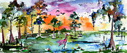 Ginette Callaway - Watercolor Landscape Wetland Nature...
