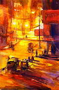 American Watercolor Society Posters - Watercolor painting of Kathmandu street- Nepal Poster by Ryan Fox
