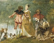 Pour Photos - Watteau, Jean-antoine 1684-1721 by Everett