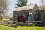 """wayside Grist Mill"" Framed Prints - Wayside Grist Mill 5 Framed Print by Dennis Coates"