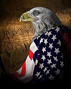 Patriotic Metal Prints - We The People Metal Print by Tom Mc Nemar