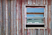 Shed Digital Art Metal Prints - Weathered Window I Metal Print by Paulette Wright