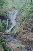 East Tennessee Paintings - Wedding Day at Cataract Falls by Russell Fox