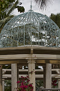 Bougainvilleas Prints - Wedding Gazebo Big Island Hawaii  Print by Douglas Barnard
