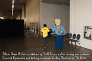 Lego Photo Prints - Weird Police Blotter Officer Chase McCain Is Detained by Staff Security At The Event 5D25200 Print by Wingsdomain Art and Photography