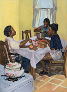 American Food Paintings - Well Seasoned Banter by Colin Bootman