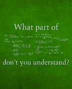 Humor Mixed Media Posters - What Part Dont You Understand Math Formula Humor Poster Poster by Design Turnpike