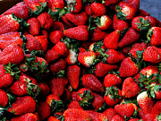Overflowing Prints - Wheelbarrow Of Strawberries Print by Al Bourassa