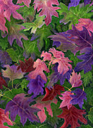 Vines Paintings - When Autumn Leaves by Catherine Howard